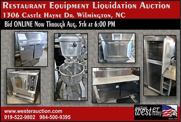 Restaurant Equipment Liquidation Auction