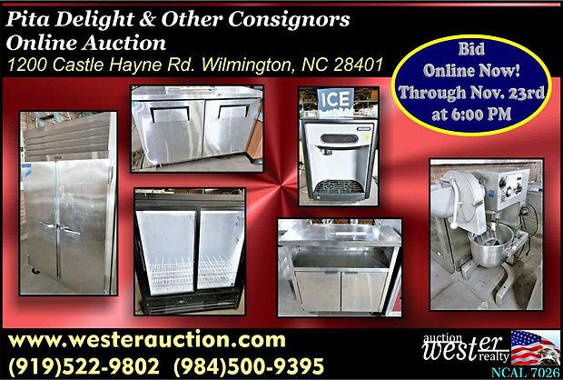 Restaurant Equipment Online Auction
