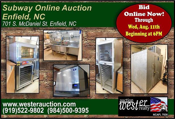 Restaurant Equipment Auction, NC