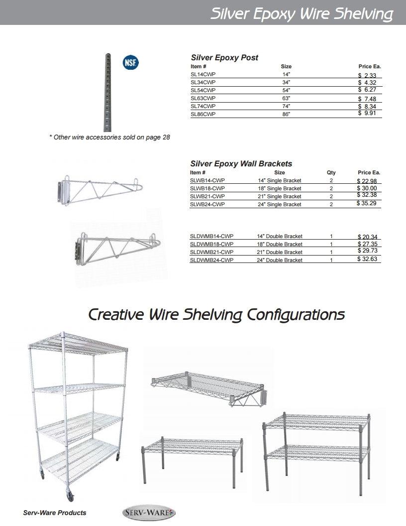 Restaurant Equipment Wire Shelving