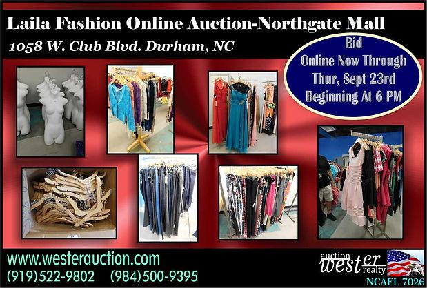 laila fashions clothing auction