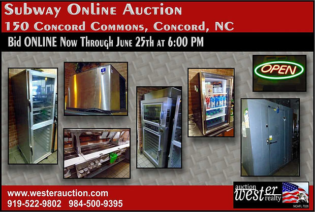 Restaurant Equipment Auction