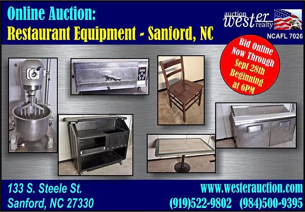 Restaurant Equipment Auction Sanford NC