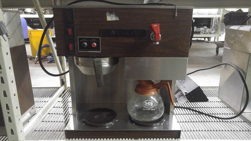 newco commercial coffee brewer double warmer