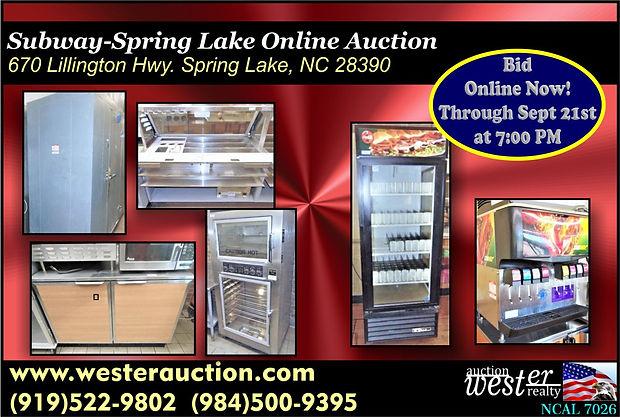 Subway Restaurant Equipment Auction