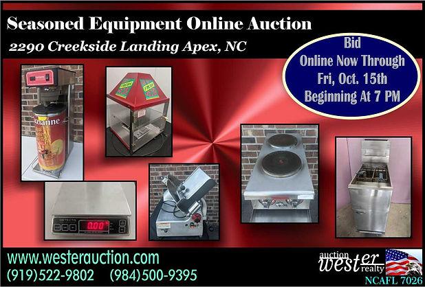 Restaurant equipment auction nc