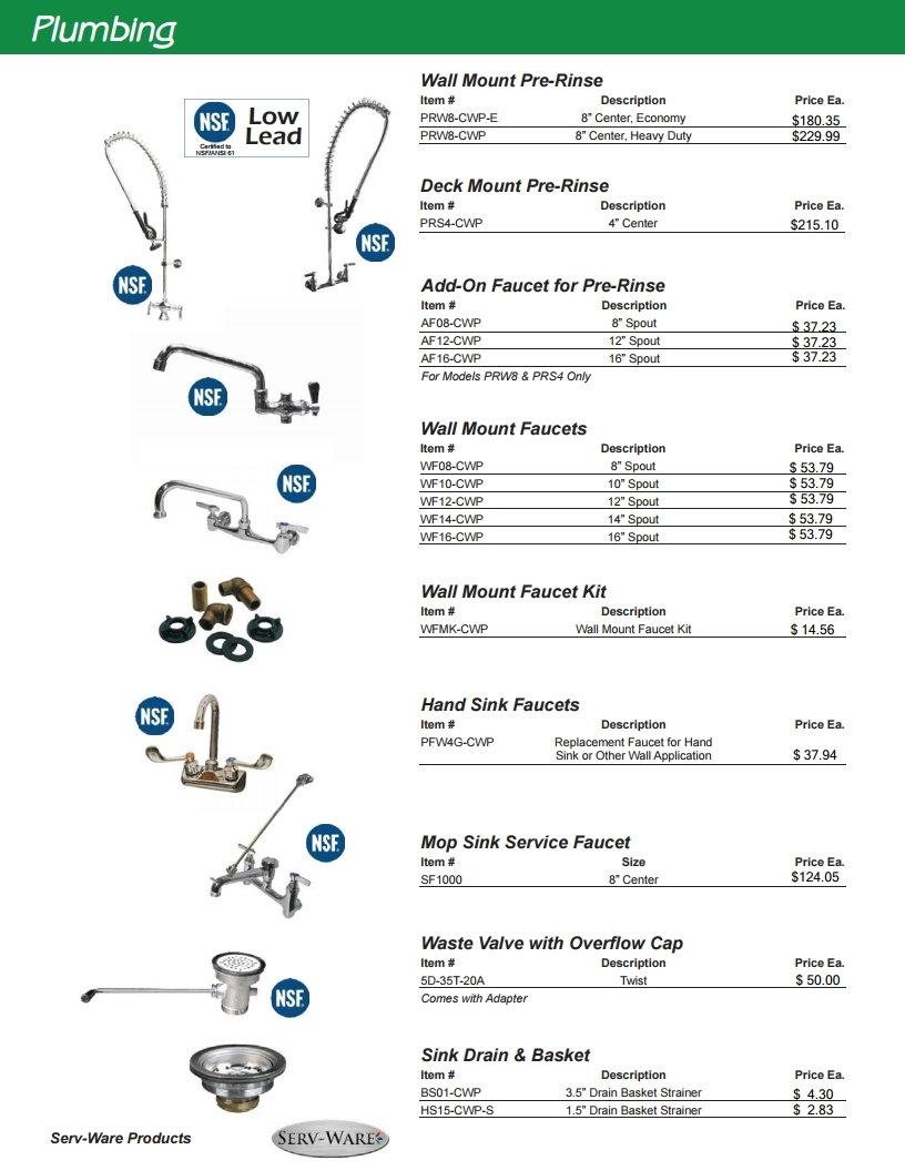 Restaurant Equipment Plumbing