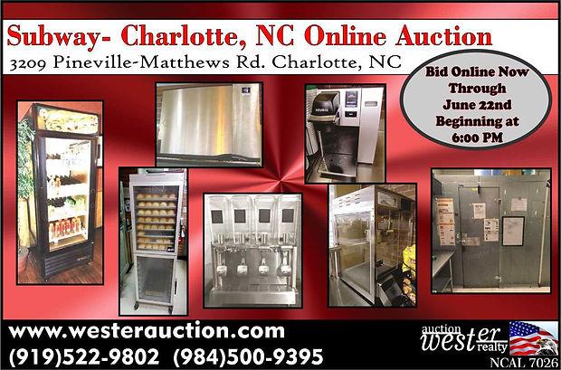 Subway Auction, NC