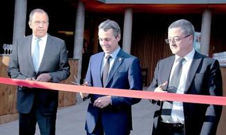Открытие нового посольства Швейцарии в Москве