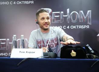 Том Харди привез в Москву «Веном»