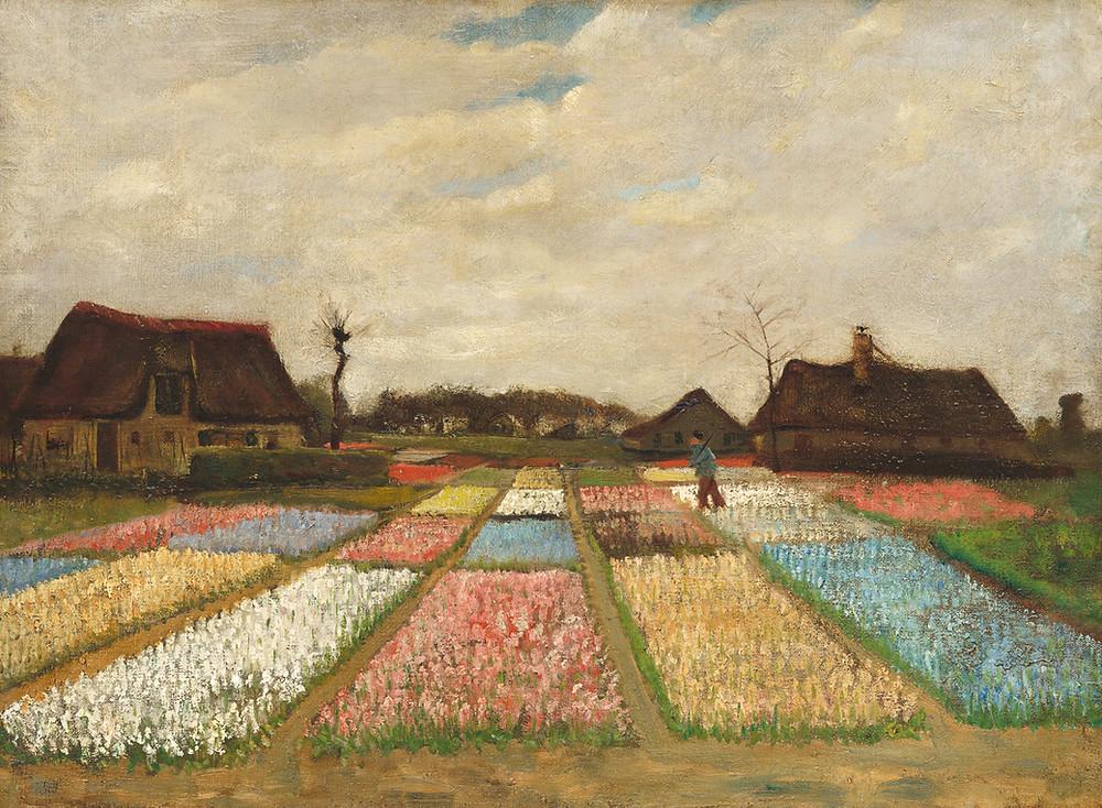 Van Gogh campo de tulipanes
