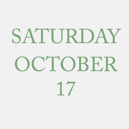 Saturday October 17 Mini Session