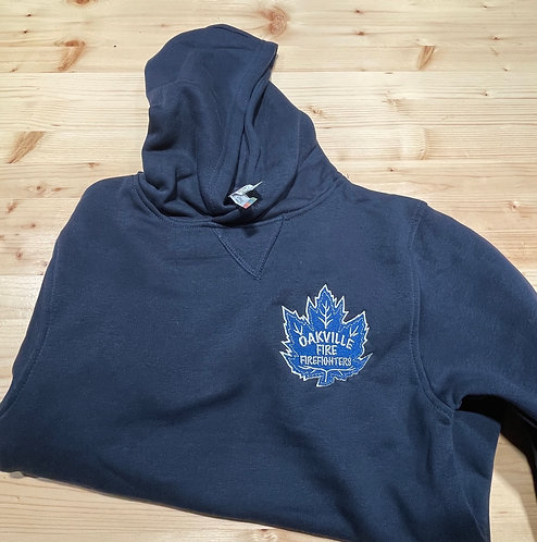 Youth ATC Hoody Navy Leaf Embroidered