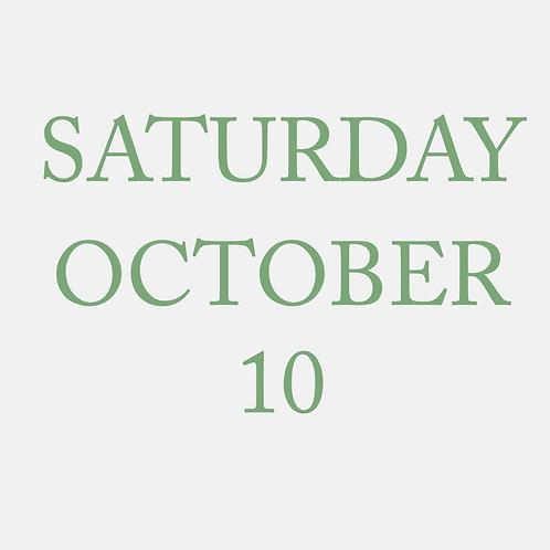 Saturday October 10 Mini Session