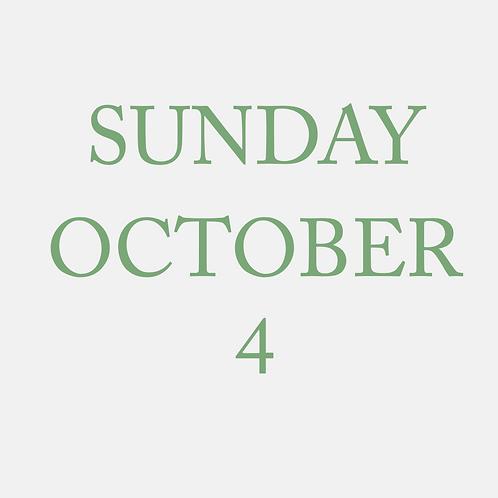 Sunday October 4 Mini Session