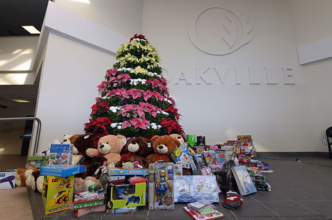 Toy donations around the Town of Oakville's Tree