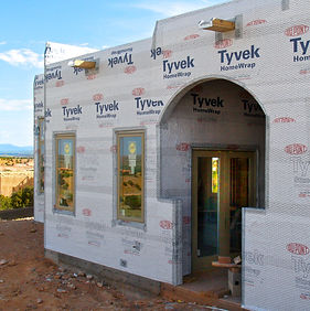 ECOterra Custom Homes Tyvek Wrap Moisture Barrier