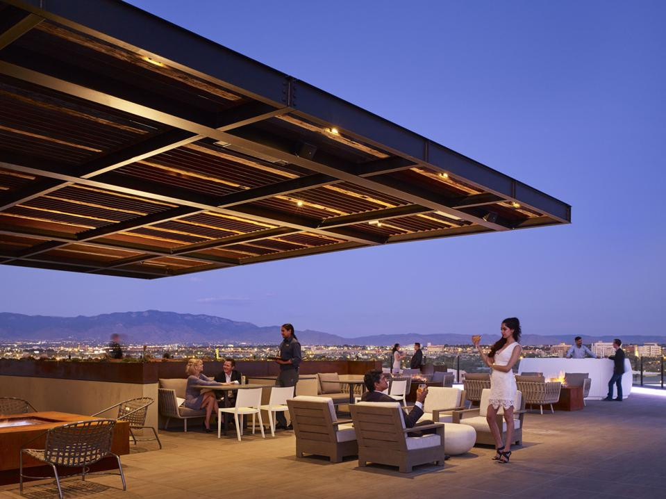 The rooftop at Hotel Chaco, Albuquerque