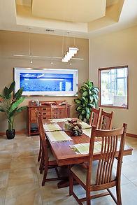 Custom home-building decisions - dining room options: flooring, lighting fixtures