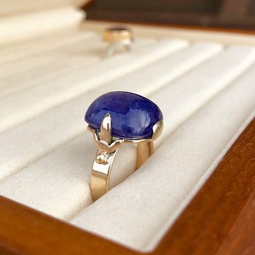 Gold 17 ct Tanzanite ring