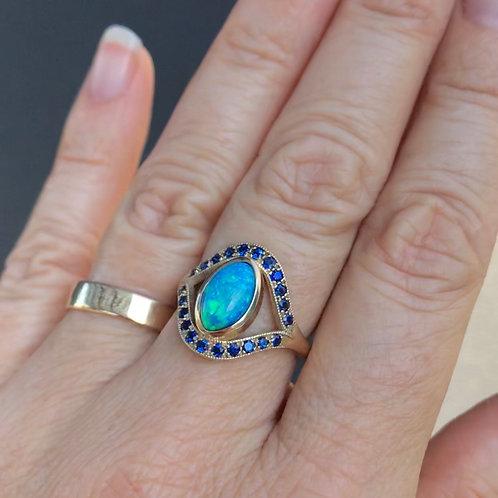 Opal Sapphire Ring