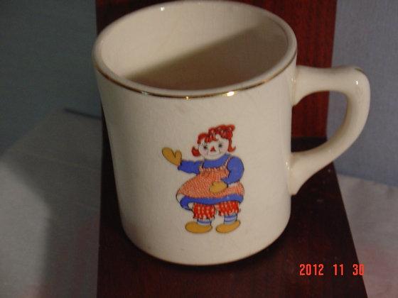 Raggedy Ann Cup, Crooksville Pottery, 1941