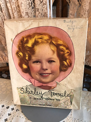 Books, Shirley Temple 5 Books About Me, in orig. box,Saalfield Co.
