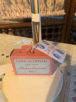Madame Alexander Comb and Curler Box with tag
