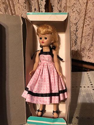 Jill, 1958 walker pink black dress in Jill box