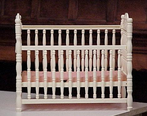 White Doll Crib EX condition 1960's collectible