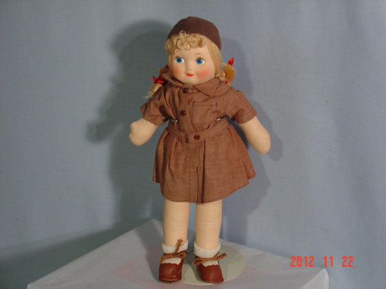 "Brownie Doll, Georgene Novelties13 ""collectible"