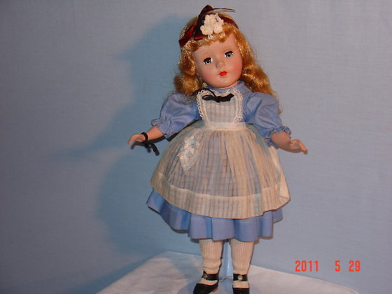 "Alice in Wonderland doll 18"" 1950's collectible"
