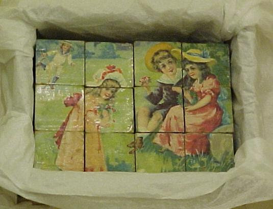 Victorian Picture Blocks,1920's, antiques