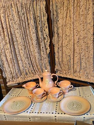 Shirley Temple Tea Set, HTF metal dishes, Teapot & more Group 4