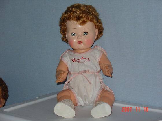 "Tiny Tears15"" vinyl body orig romper, collectible"
