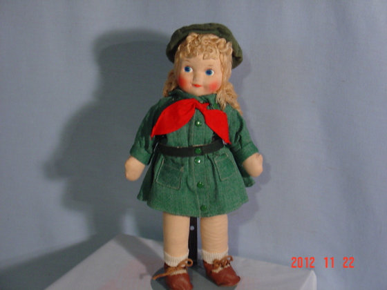 "Girl Scout Doll Georgene Novelties13""collectible"