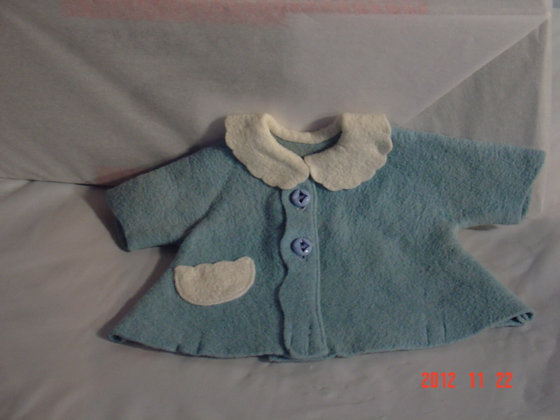 Tiny Tears Original Blue Coat, very collectible