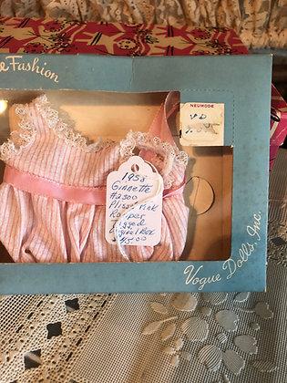 Ginnette Pink Plisse' Romper in original box