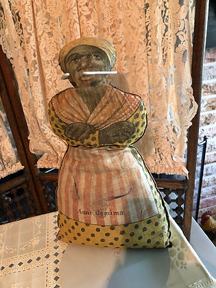 Aunt Jemima, 1920's  - 1930's early cloth doll     SOLD
