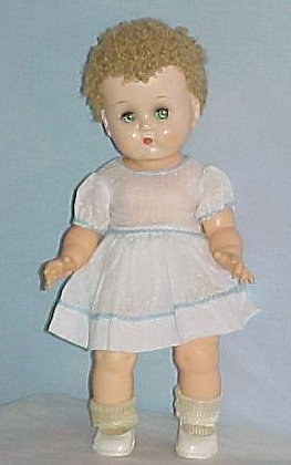 "13"" Betsy Wetsy Doll caracul wig, VG collectible"