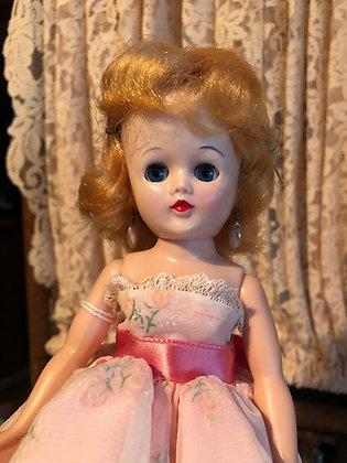 Jill Doll, 1958 in pink formal , walker