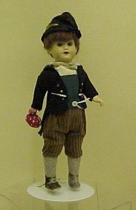 "Armand Marseille Boy Doll, 12"",VG antique"