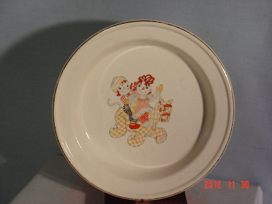 Raggedy Ann Bowl Crooksville Pottery 1941