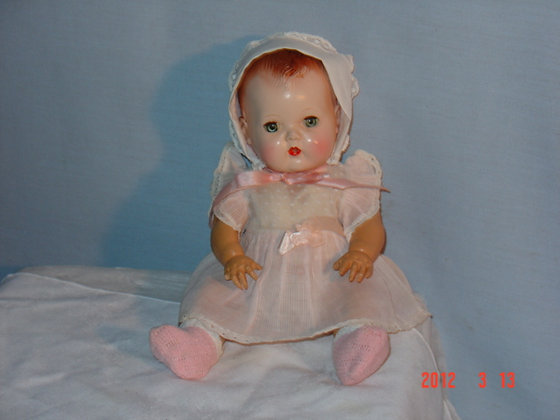 "11"" Early Tiny Tears Doll, all orig, collectible"