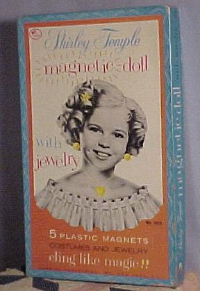 Shirley Temple Magnetic Paper Dolls in Box