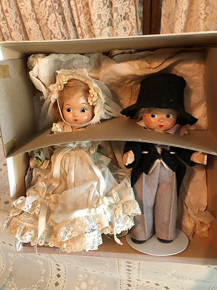 Toddles Bride & Groom in their original early double box