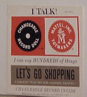 Charmin' Chatty Doll Hang Tag1960's collectible