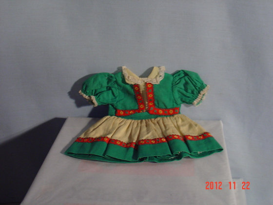 "Toni Doll Orig. Dress 18"", 1950's, VG collectible"