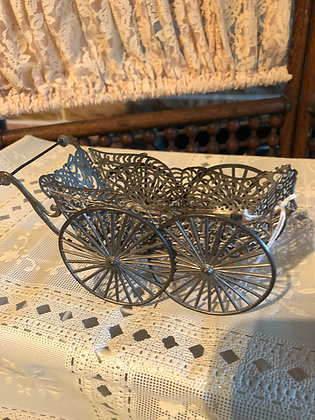 Antique Soft Metal Small Doll Buggy, 1890's