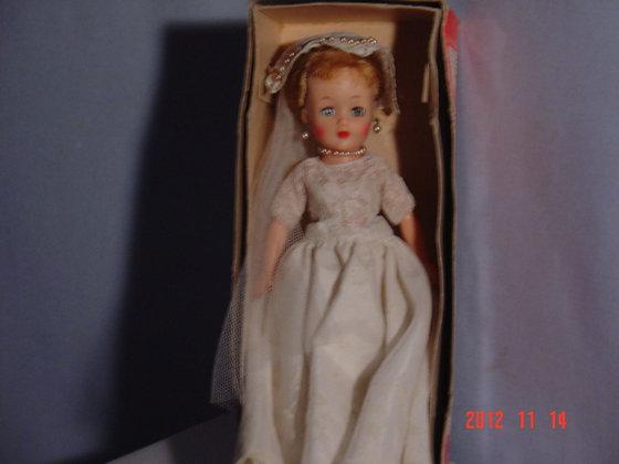 """Little Miss Revlon Bride doll10 1/2"""", Revlon box"""